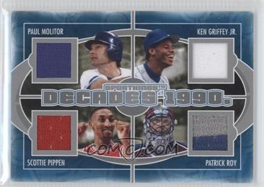 2012 Sportkings Series E Decades Silver #D-05 - Paul Molitor, Ken Griffey Jr., Scottie Pippen, Patrick Roy /40
