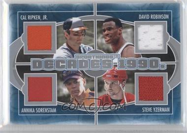 2012 Sportkings Series E Decades Silver #D-06 - Cal Ripken Jr., David Robinson, Annika Sorenstam, Steve Yzerman /40