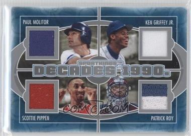 2012 Sportkings Series E Decades Silver #D-5 - Paul Molitor, Ken Griffey Jr., Scottie Pippen, Patrick Roy