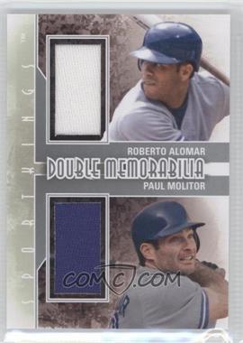 2012 Sportkings Series E Double Memorabilia Silver #DM-01 - Roberto Alomar, Paul Molitor