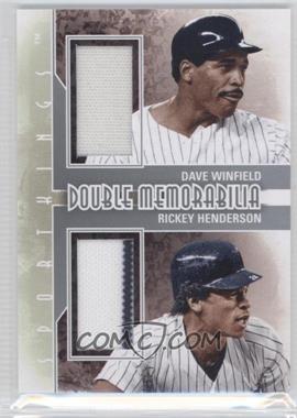 2012 Sportkings Series E Double Memorabilia Silver #DM-02 - Dave Winfield, Rickey Henderson