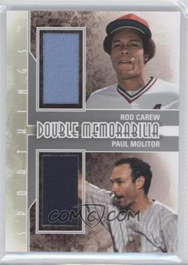 2012 Sportkings Series E Double Memorabilia Silver #DM-03 - Rod Carew, Paul Molitor