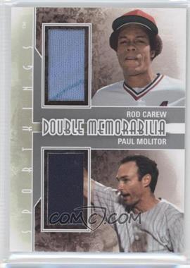2012 Sportkings Series E Double Memorabilia Silver #DM-03 - Rod Carew, Paul Molitor