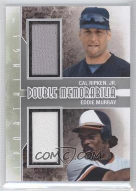 2012 Sportkings Series E Double Memorabilia Silver #DM-04 - Cal Ripken Jr., Eddie Murray