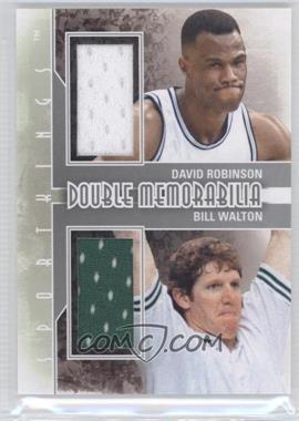 2012 Sportkings Series E Double Memorabilia Silver #DM-05 - David Robinson, Bill Walton