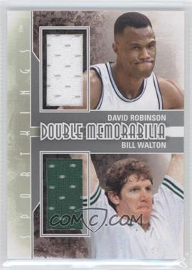 2012 Sportkings Series E Double Memorabilia Silver #DM-05 - David Robinson, Bill Walton