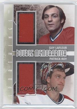 2012 Sportkings Series E Double Memorabilia Silver #DM-07 - Guy Lafleur, Patrick Roy