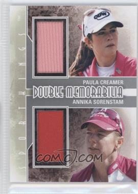 2012 Sportkings Series E Double Memorabilia Silver #DM-08 - Paula Creamer, Annika Sorenstam
