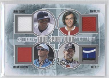 2012 Sportkings Series E Four Sport Quad Memorabilia Silver #FSQM-01 - [Missing]