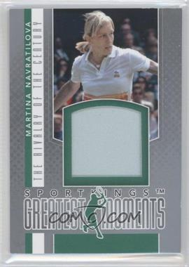 2012 Sportkings Series E Greatest Moments Silver #GM-03 - Martina Navratilova