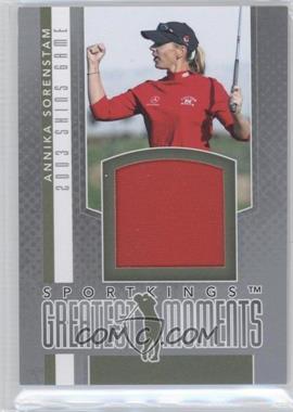 2012 Sportkings Series E Greatest Moments Silver #GM-04 - Annika Sorenstam