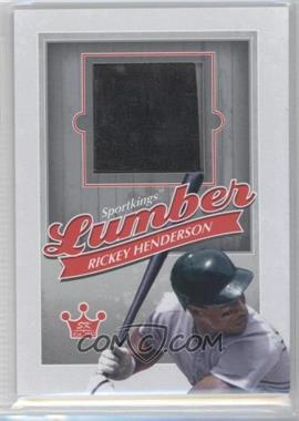 2012 Sportkings Series E Lumber Silver #L-05 - Rickey Henderson
