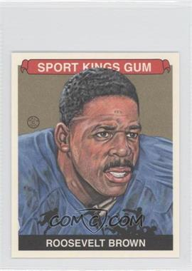2012 Sportkings Series E Mini Gold #ROBR - Roosevelt Brown /3