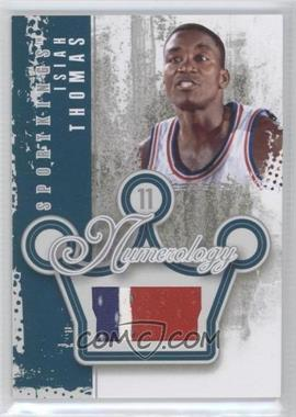 2012 Sportkings Series E Numerology Silver #N-11 - Isiah Thomas /4