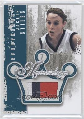 2012 Sportkings Series E Numerology Silver #N-16 - Jackie Stiles /4