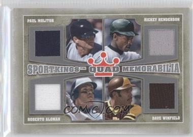 2012 Sportkings Series E Quad Memorabilia Silver #QM-01 - [Missing]