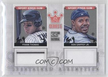 2012 Sportkings Series E Redemption Double Memorabilia Silver #SKR-29 - Frank Thomas, Ken Griffey Jr. /60