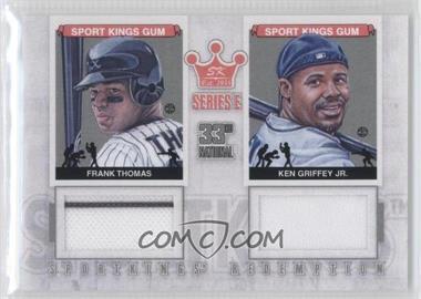 2012 Sportkings Series E Redemption Double Memorabilia Silver #SKR-29 - Frank Thomas