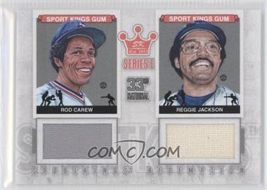 2012 Sportkings Series E Redemption Double Memorabilia Silver #SKR-32 - Reggie Jackson, Rod Carew /19