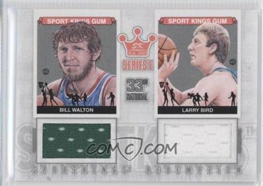 2012 Sportkings Series E Redemption Double Memorabilia Silver #SKR-35 - Bill Walton, Larry Bird /19
