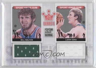 2012 Sportkings Series E Redemption Double Memorabilia Silver #SKR-35 - Bill Walton, Larry Bird