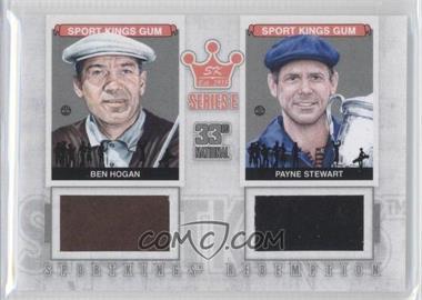 2012 Sportkings Series E Redemption Double Memorabilia Silver #SKR-37 - Ben Hogan, Payne Stewart /19