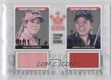 2012 Sportkings Series E Redemption Double Memorabilia Silver #SKR-38 - Paula Creamer, Annika Sorenstam /19