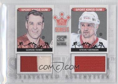 2012 Sportkings Series E Redemption Double Memorabilia Silver #SKR-39 - Gordie Howe, Steve Yzerman