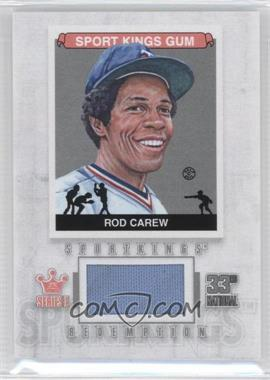 2012 Sportkings Series E Redemption Single Memorabilia Silver #SKR-03 - Rod Carew