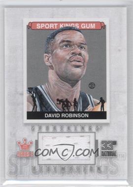2012 Sportkings Series E Redemption Single Memorabilia Silver #SKR-18 - David Robinson /19