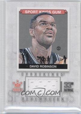 2012 Sportkings Series E Redemption Single Memorabilia Silver #SKR-18 - David Robinson