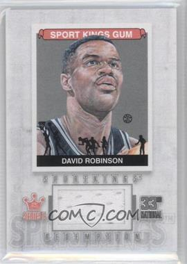 2012 Sportkings Series E Redemption Single Memorabilia Silver #SKR-18 - David Robinson /19