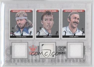 2012 Sportkings Series E Redemption Triple Memorabilia Silver #SKR-52 - Bjorn Borg, Ivan Lendl, Stan Smith /19