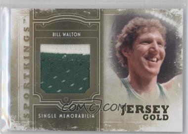 2012 Sportkings Series E Single Memorabilia Gold Jersey #SM-12 - Bill Walton