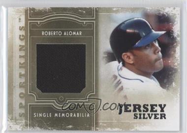 2012 Sportkings Series E Single Memorabilia Silver Jersey #SM-01 - Roberto Alomar