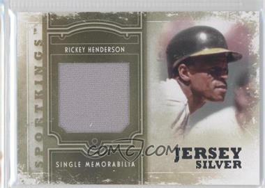 2012 Sportkings Series E Single Memorabilia Silver Jersey #SM-04 - Rickey Henderson