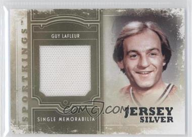 2012 Sportkings Series E Single Memorabilia Silver Jersey #SM-05 - Guy Lafleur