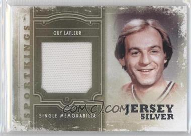 2012 Sportkings Series E Single Memorabilia Silver Jersey #SM-05 - Guy Lafleur