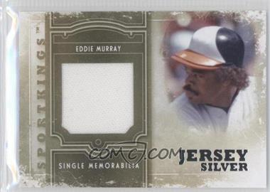 2012 Sportkings Series E Single Memorabilia Silver Jersey #SM-07 - Eddie Murray