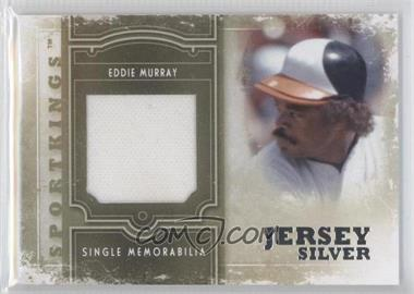 2012 Sportkings Series E Single Memorabilia Silver Jersey #SM-07 - Eddie Murray