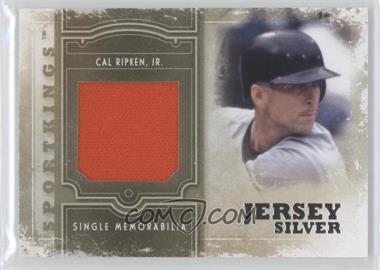 2012 Sportkings Series E Single Memorabilia Silver Jersey #SM-08 - Cal Ripken Jr.
