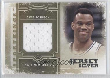 2012 Sportkings Series E Single Memorabilia Silver Jersey #SM-09 - David Robinson