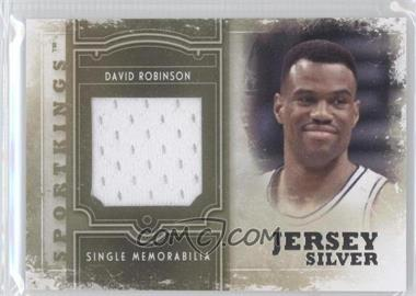 2012 Sportkings Series E Single Memorabilia Silver Jersey #SM-09 - David Robinson