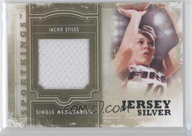 2012 Sportkings Series E Single Memorabilia Silver Jersey #SM-10 - Jackie Stiles