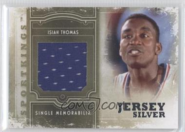 2012 Sportkings Series E Single Memorabilia Silver Jersey #SM-11 - Isiah Thomas