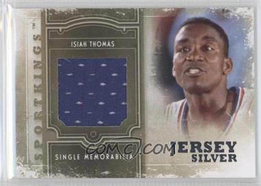 2012 Sportkings Series E Single Memorabilia Silver Jersey #SM-11 - Isiah Thomas