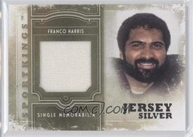 2012 Sportkings Series E Single Memorabilia Silver Jersey #SM-14 - Franco Harris