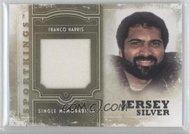 2012 Sportkings Series E Single Memorabilia Silver Jersey #SM-14 - Franco Harris