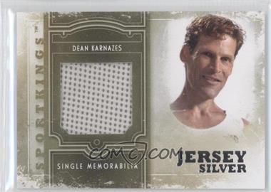 2012 Sportkings Series E Single Memorabilia Silver Jersey #SM-16 - Dean Karnazes