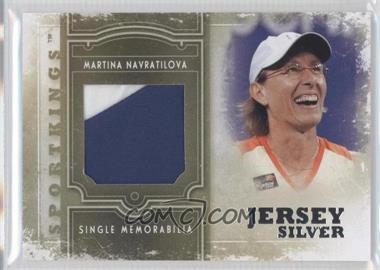 2012 Sportkings Series E Single Memorabilia Silver Jersey #SM-17 - Martina Navratilova